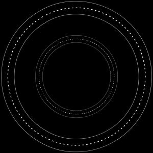 Wheel of religious symbols