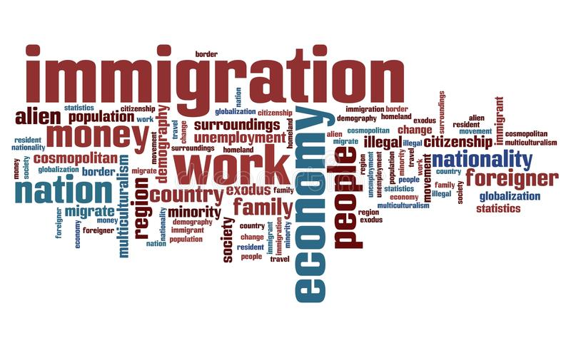 immigration wordcloud
