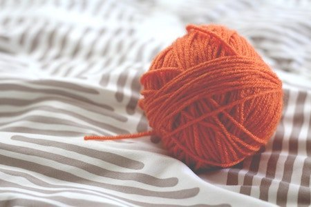 Ball of Orange Yarn